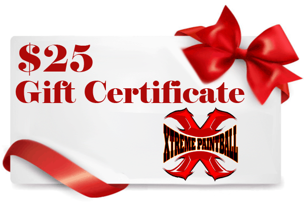 $25 paintball gift certificate