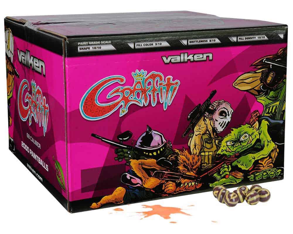 case of valken graffiti paintballs