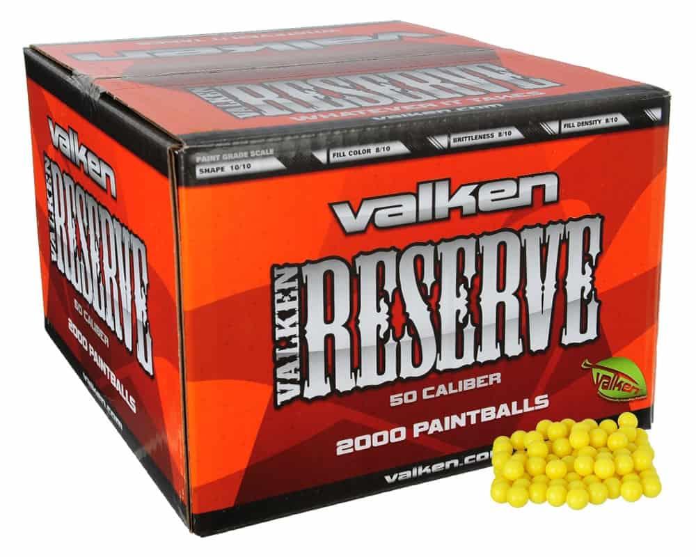 case of valken reserve paintballs