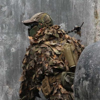 airsoft player in camos